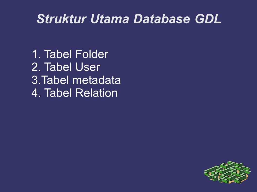 Struktur Utama Database GDL