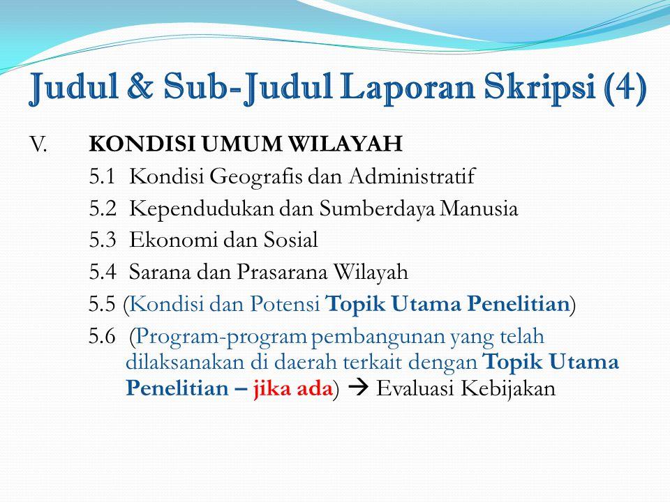 Judul & Sub-Judul Laporan Skripsi (4)