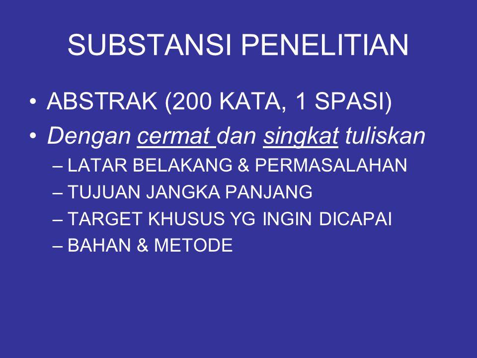 SUBSTANSI PENELITIAN ABSTRAK (200 KATA, 1 SPASI)