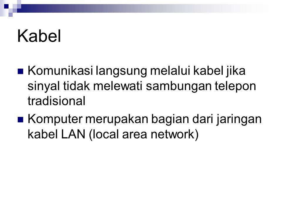 Kabel Komunikasi langsung melalui kabel jika sinyal tidak melewati sambungan telepon tradisional.