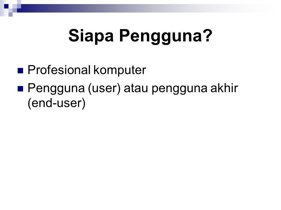 Siapa Pengguna Profesional komputer