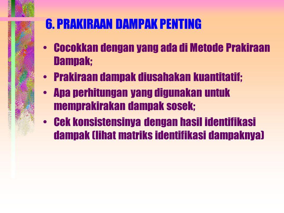 6. PRAKIRAAN DAMPAK PENTING