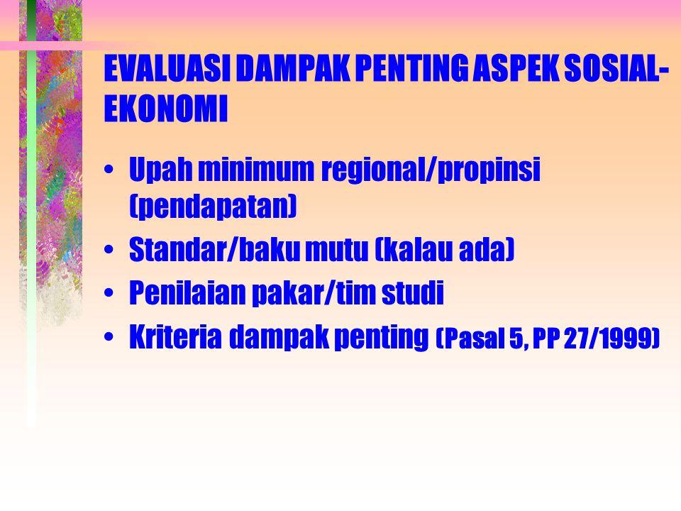 EVALUASI DAMPAK PENTING ASPEK SOSIAL-EKONOMI