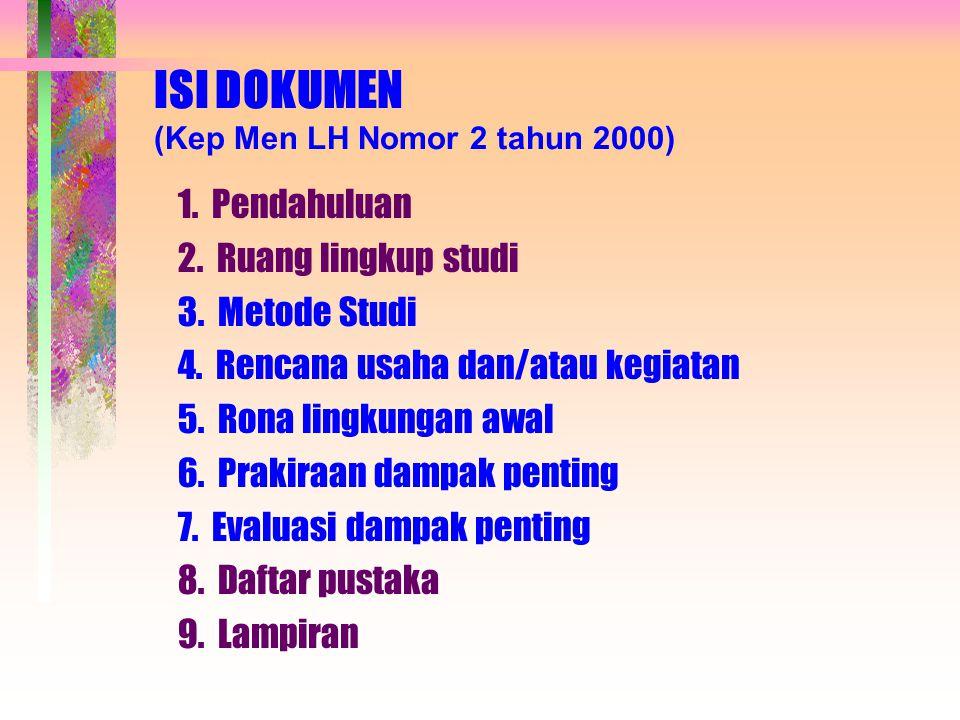 ISI DOKUMEN (Kep Men LH Nomor 2 tahun 2000)