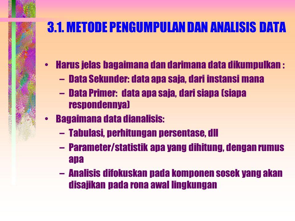 3.1. METODE PENGUMPULAN DAN ANALISIS DATA