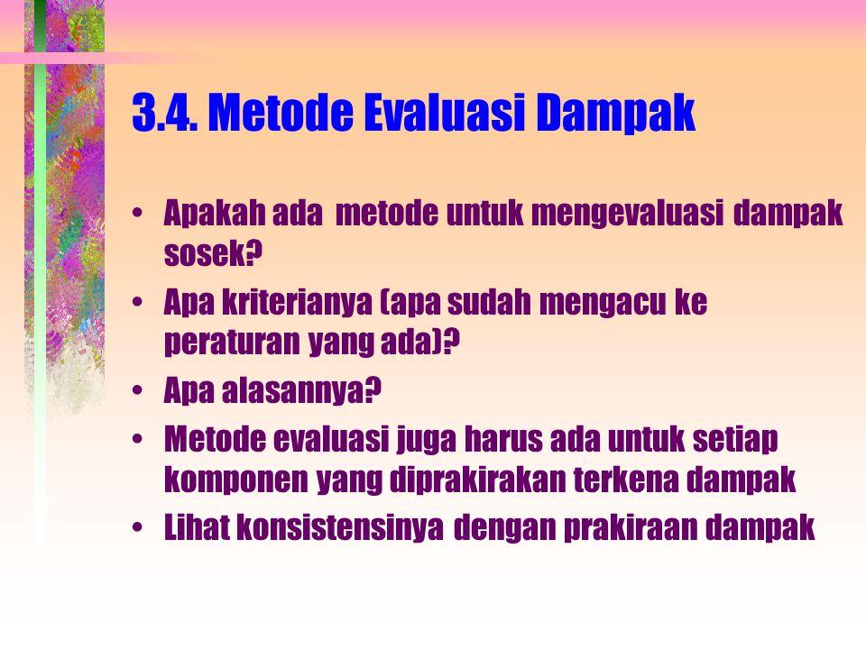 3.4. Metode Evaluasi Dampak