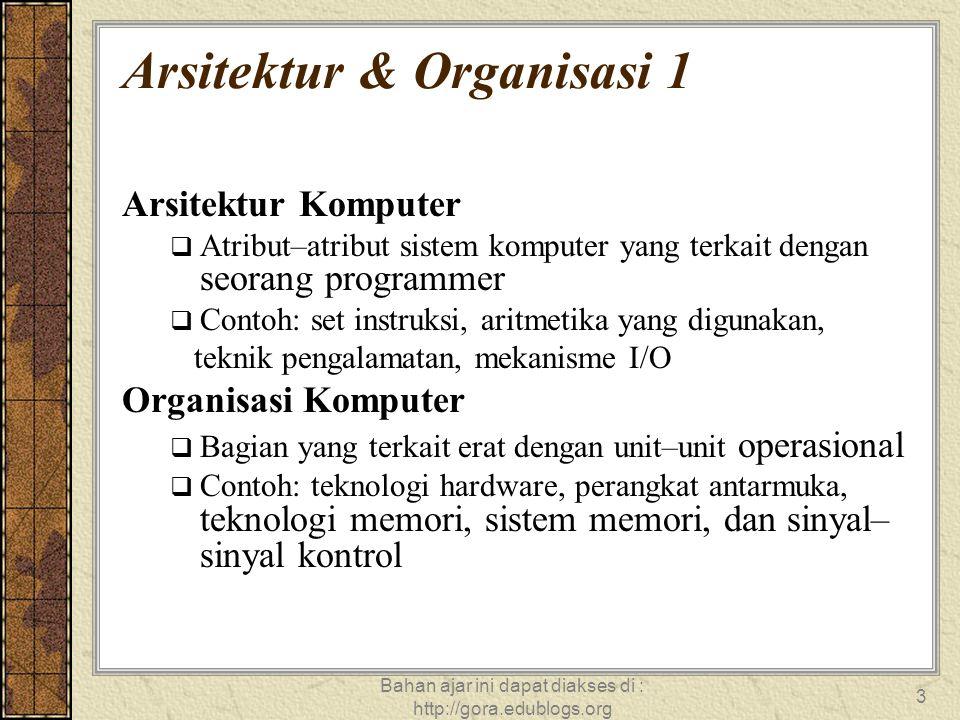 Arsitektur & Organisasi 1