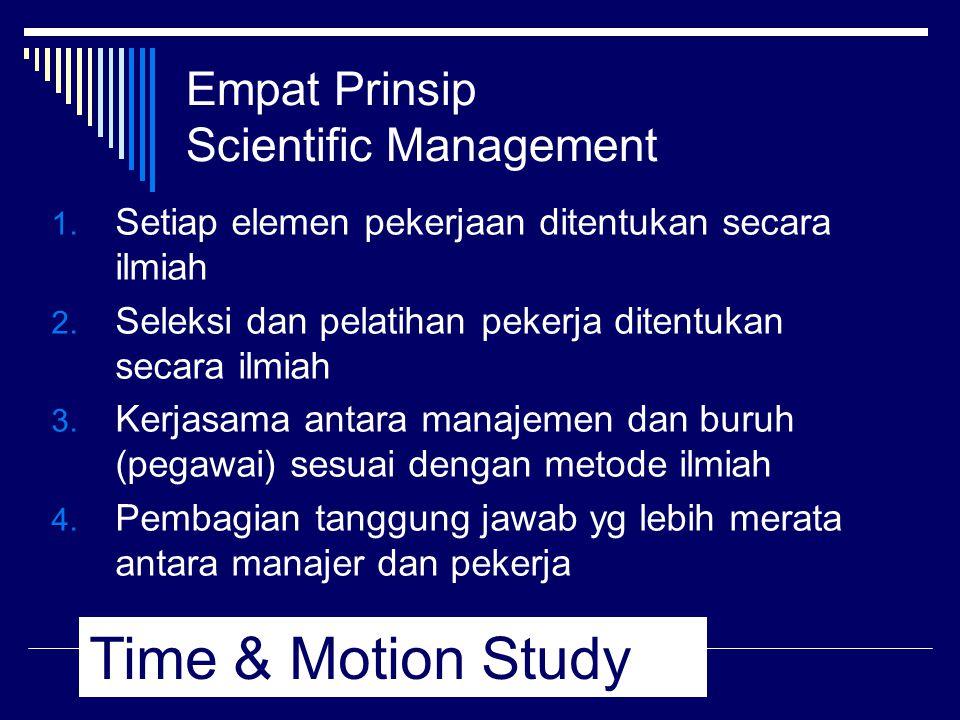 Empat Prinsip Scientific Management