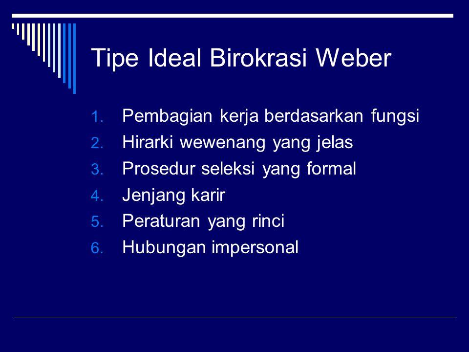 Tipe Ideal Birokrasi Weber