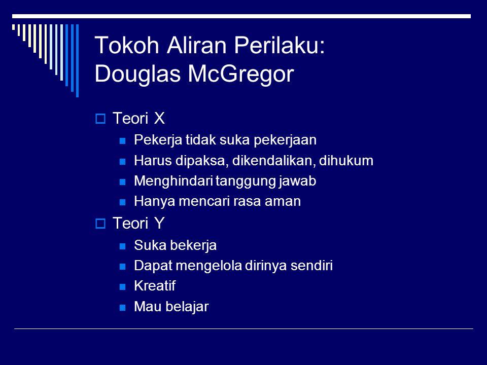 Tokoh Aliran Perilaku: Douglas McGregor