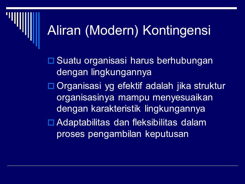 Aliran (Modern) Kontingensi