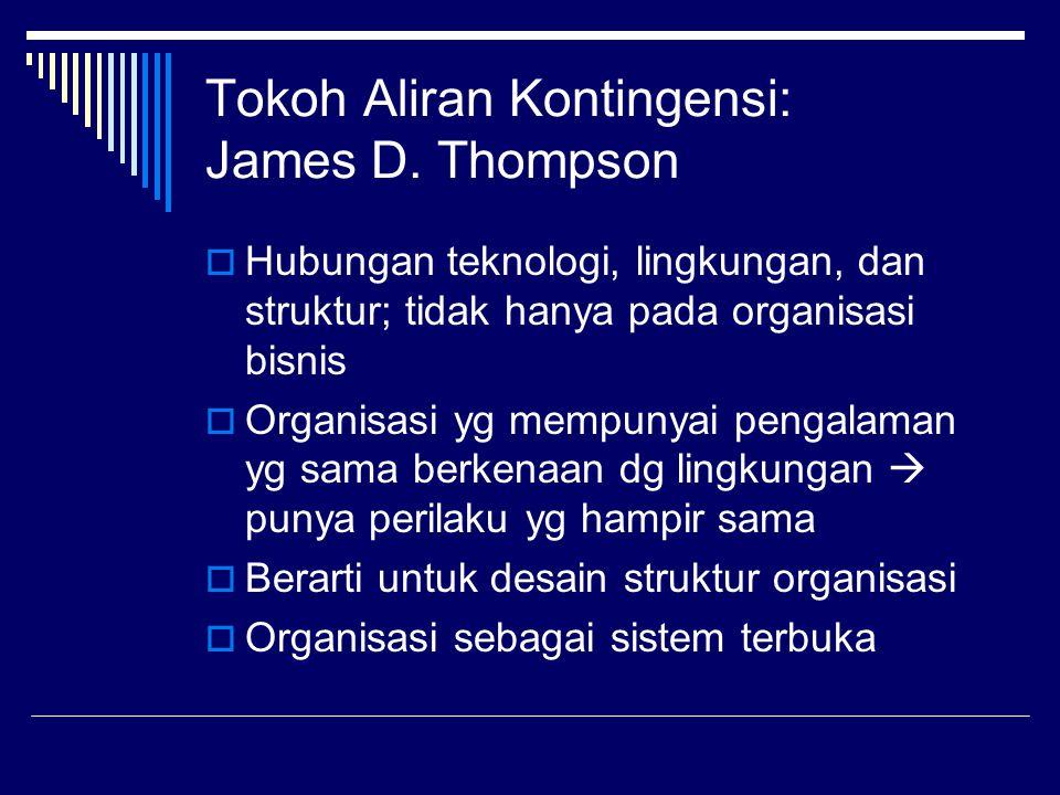 Tokoh Aliran Kontingensi: James D. Thompson