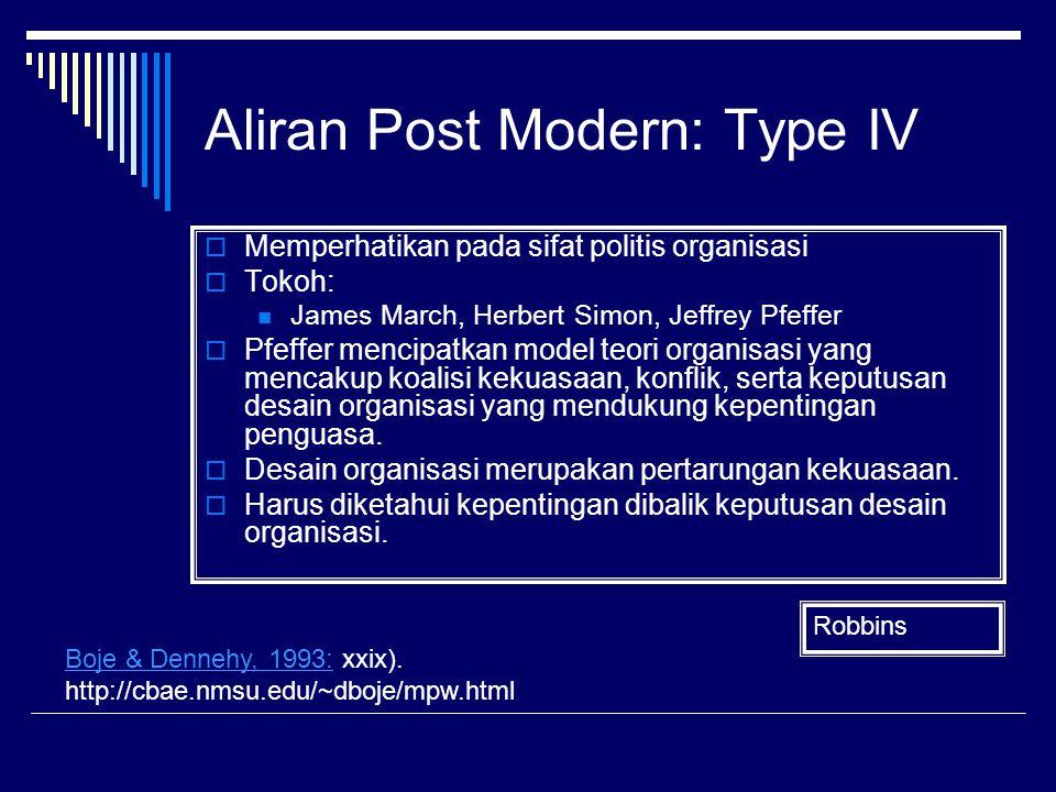 Aliran Post Modern: Type IV