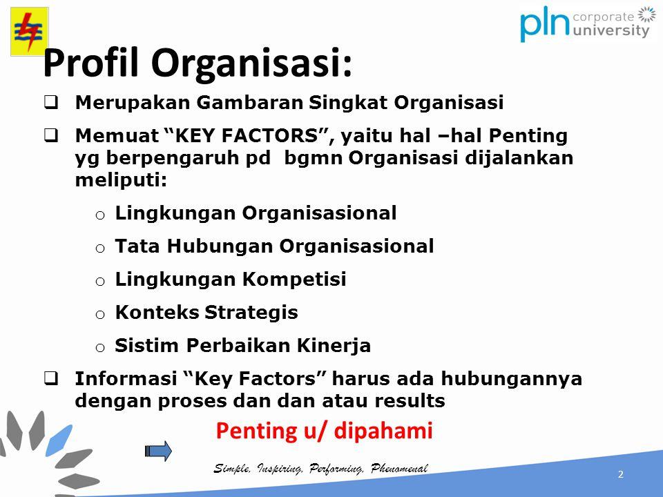 Profil Organisasi: Penting u/ dipahami