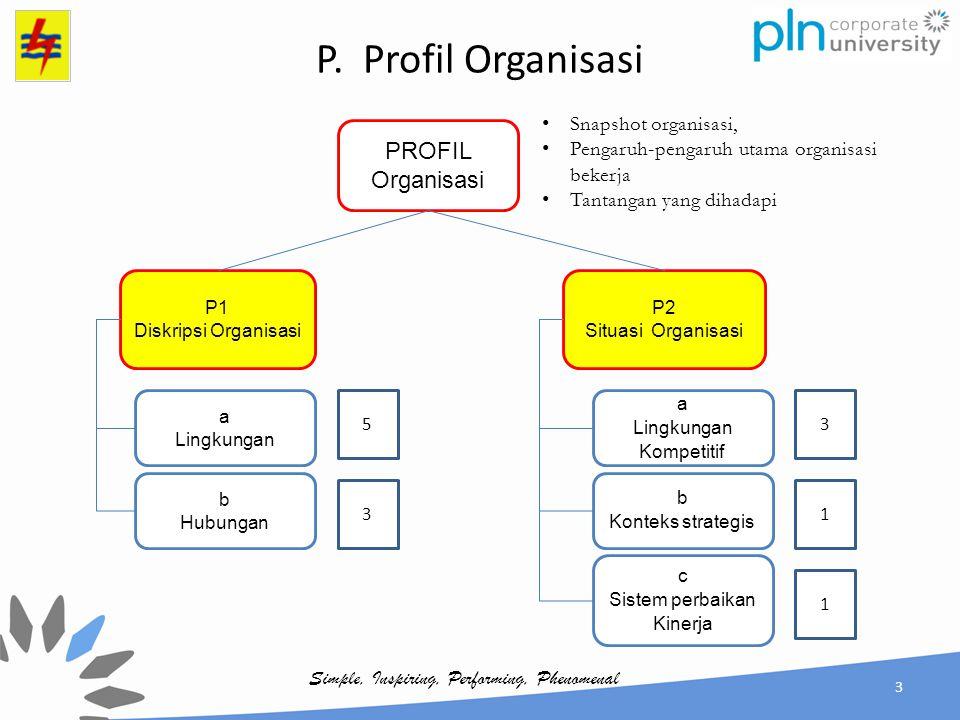 P. Profil Organisasi PROFIL Organisasi Snapshot organisasi,