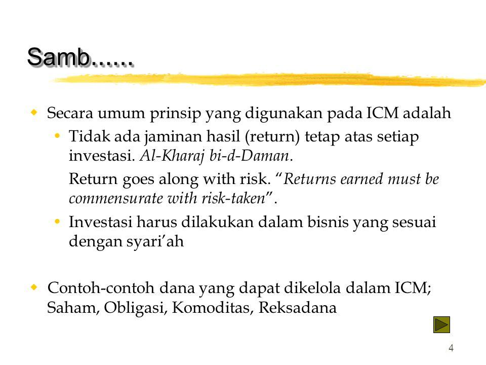 Samb…… Secara umum prinsip yang digunakan pada ICM adalah