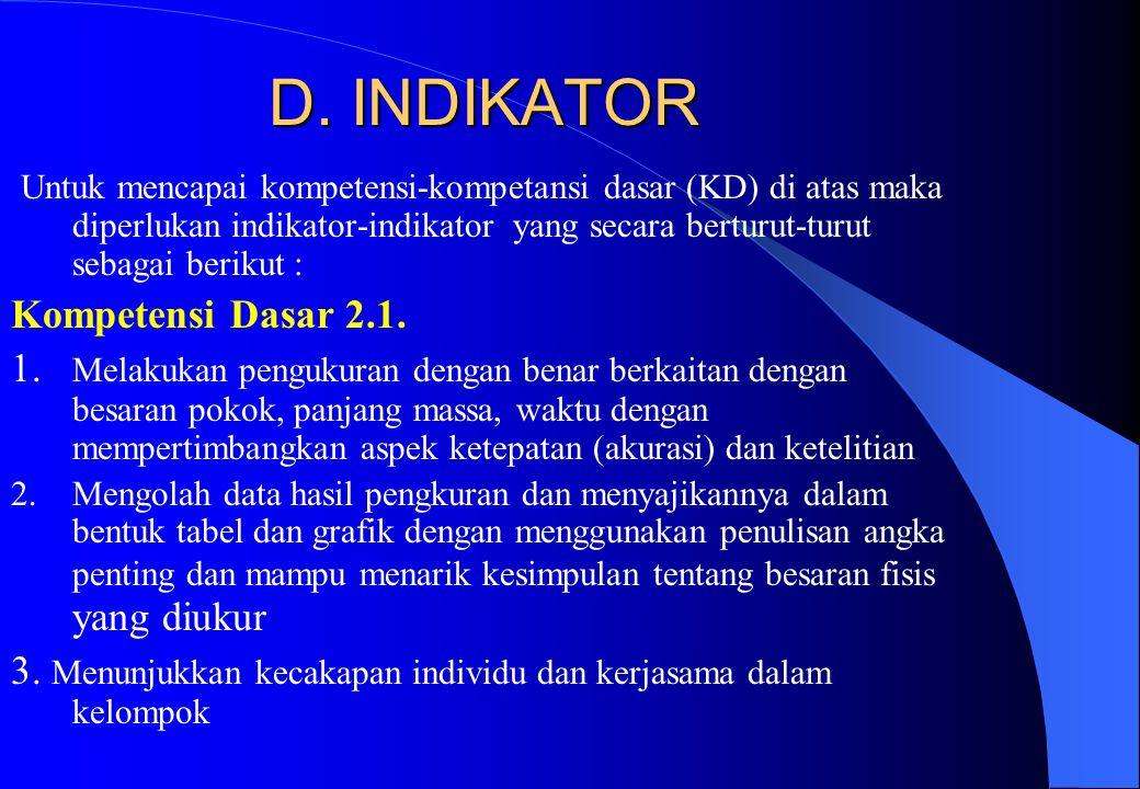 D. INDIKATOR
