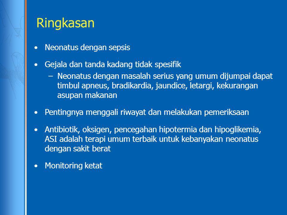 Ringkasan Neonatus dengan sepsis