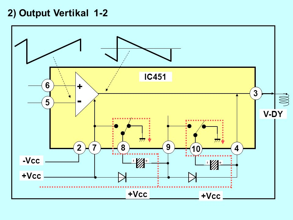 7 4 8 9 10 3 5 6 +Vcc -Vcc 2 IC451 V-DY +Vcc +Vcc