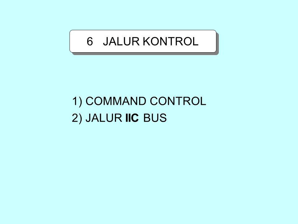 6 JALUR KONTROL 1) COMMAND CONTROL 2) JALUR IIC BUS
