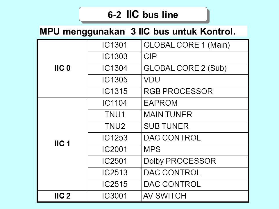 MPU menggunakan 3 IIC bus untuk Kontrol.