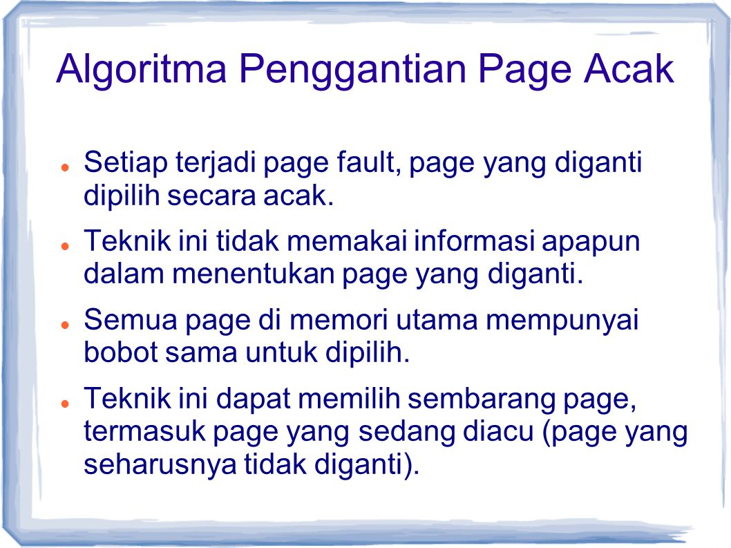 Algoritma Penggantian Page Acak