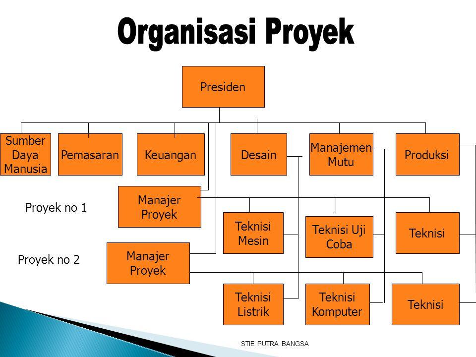 Organisasi Proyek Presiden Sumber Daya Manusia Pemasaran Keuangan