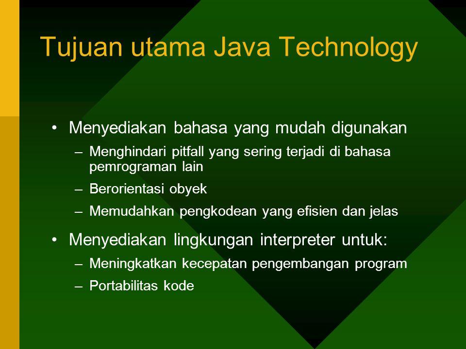 Tujuan utama Java Technology