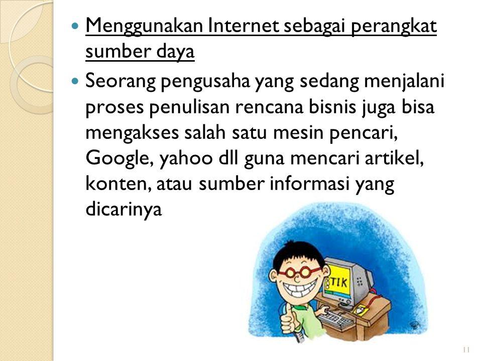 Menggunakan Internet sebagai perangkat sumber daya