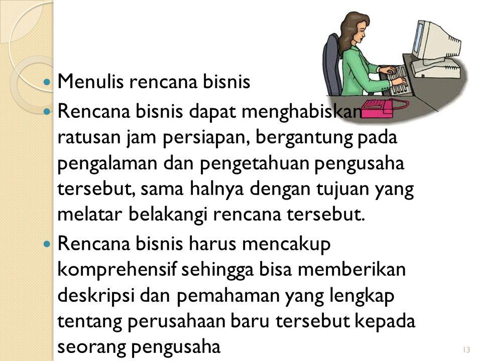 Menulis rencana bisnis