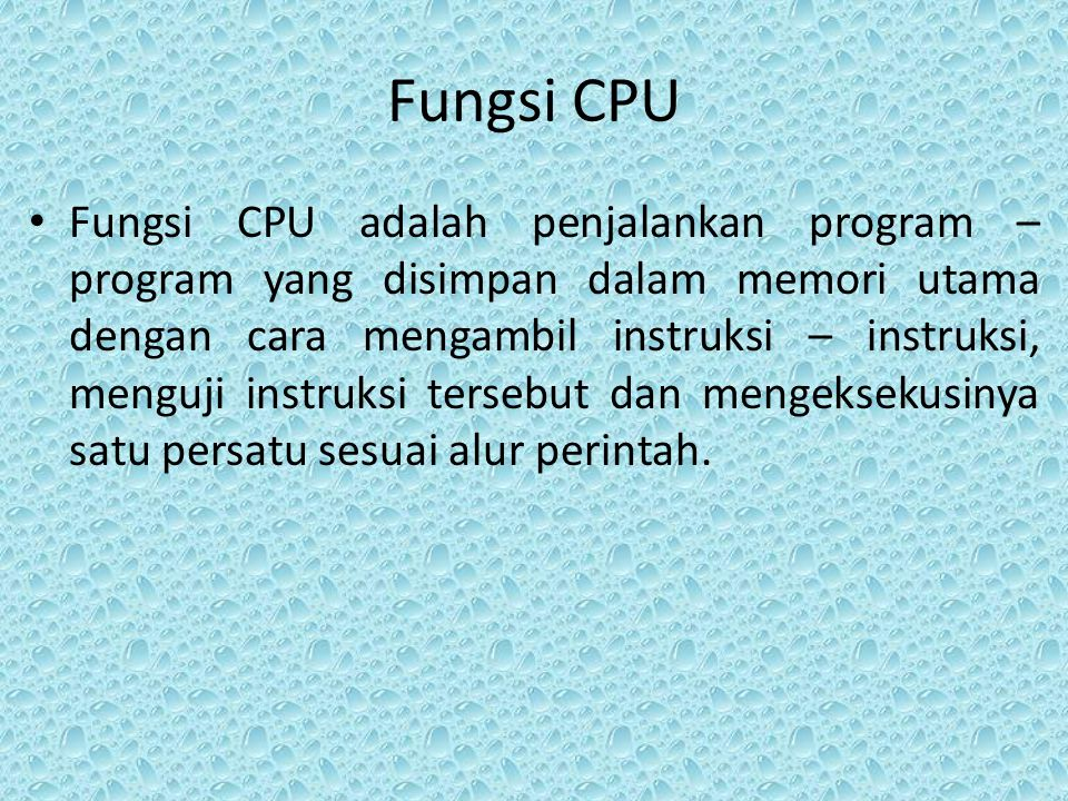 Fungsi CPU