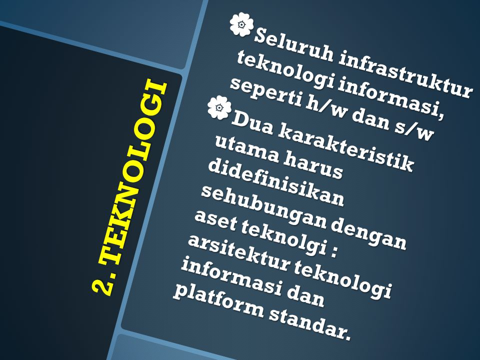 Seluruh infrastruktur teknologi informasi, seperti h/w dan s/w