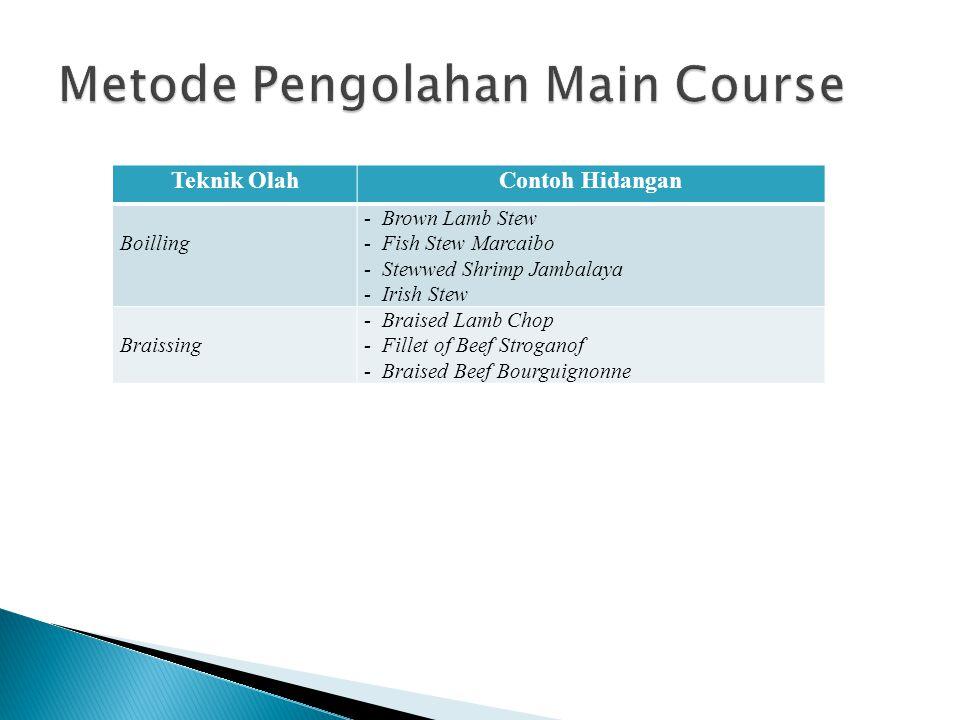 Metode Pengolahan Main Course