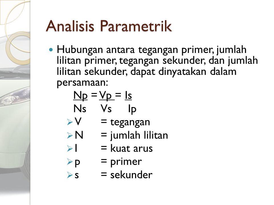 Analisis Parametrik