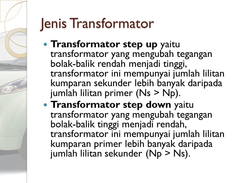 Jenis Transformator