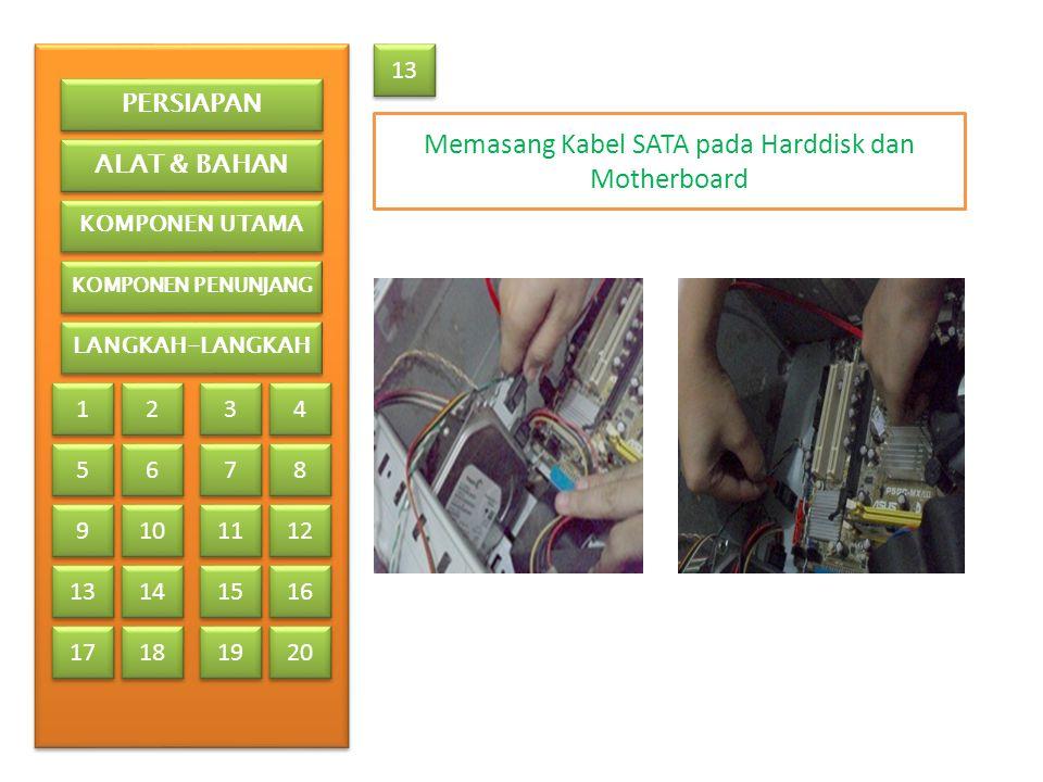 Memasang Kabel SATA pada Harddisk dan Motherboard