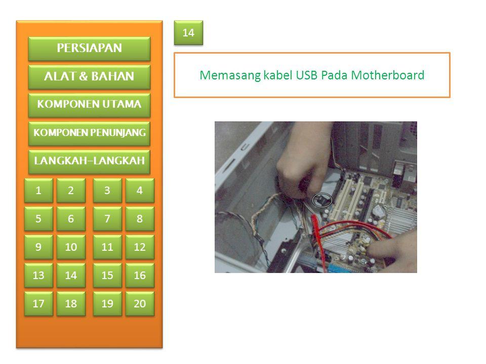 Memasang kabel USB Pada Motherboard