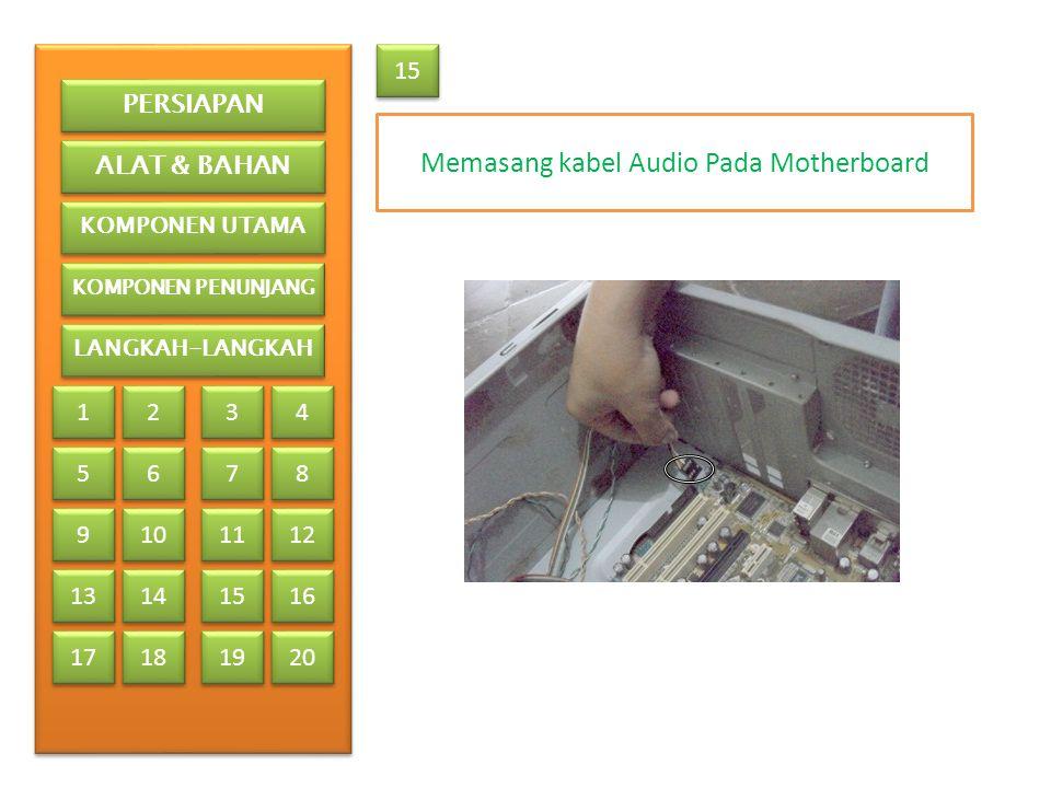 Memasang kabel Audio Pada Motherboard