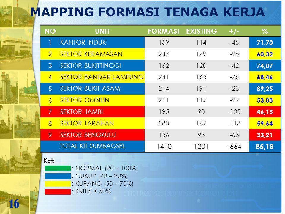 MAPPING FORMASI TENAGA KERJA