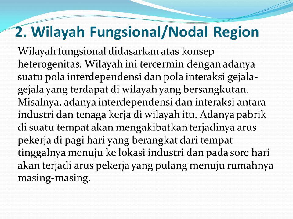 2. Wilayah Fungsional/Nodal Region