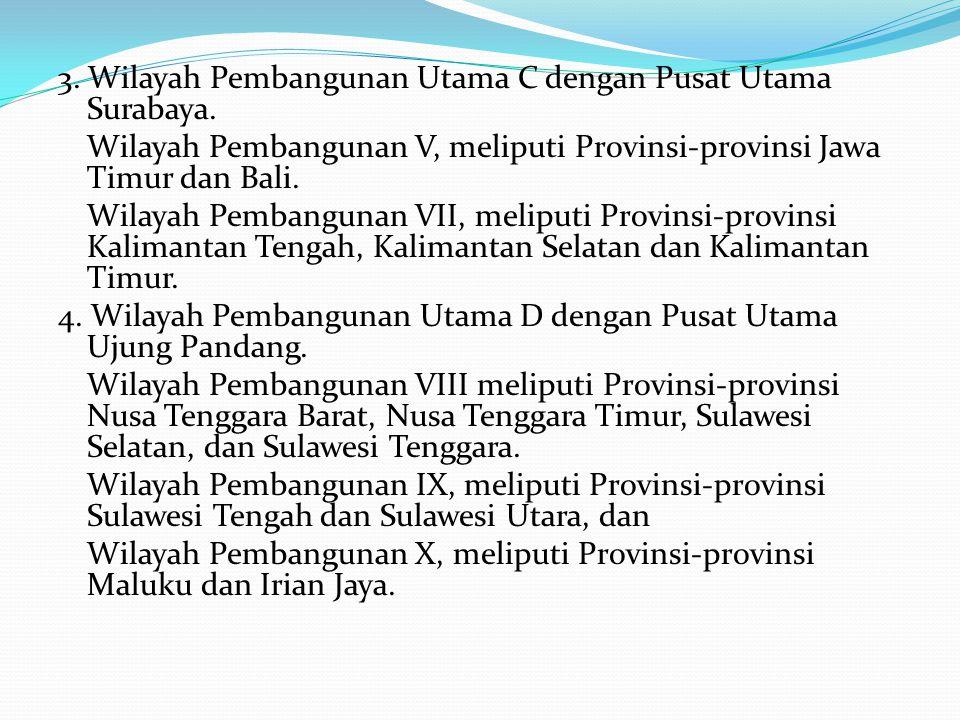 3. Wilayah Pembangunan Utama C dengan Pusat Utama Surabaya