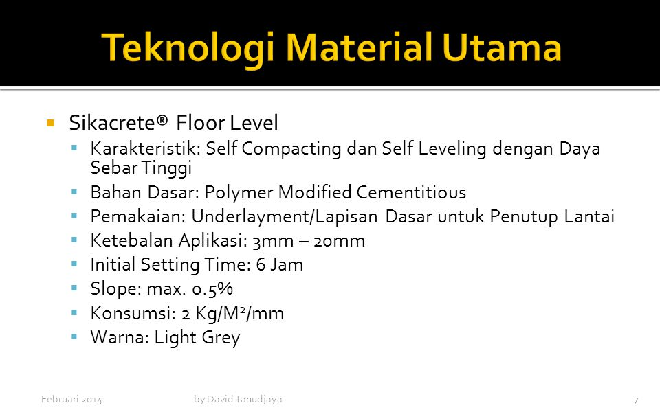 Teknologi Material Utama