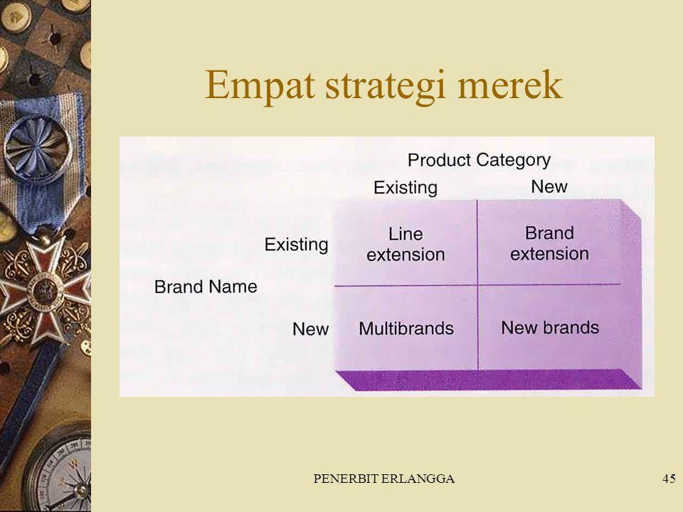 Empat strategi merek PENERBIT ERLANGGA