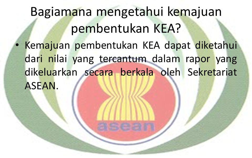 Bagiamana mengetahui kemajuan pembentukan KEA