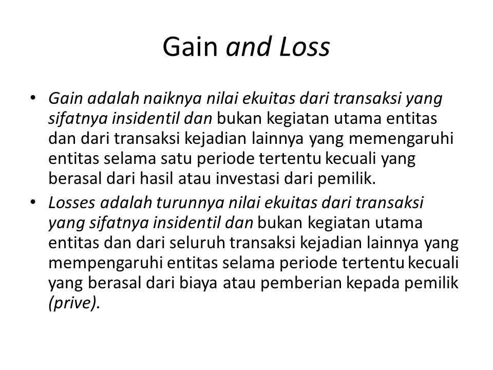 Gain and Loss