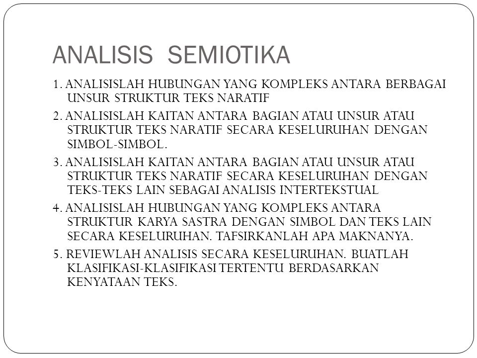 ANALISIS SEMIOTIKA