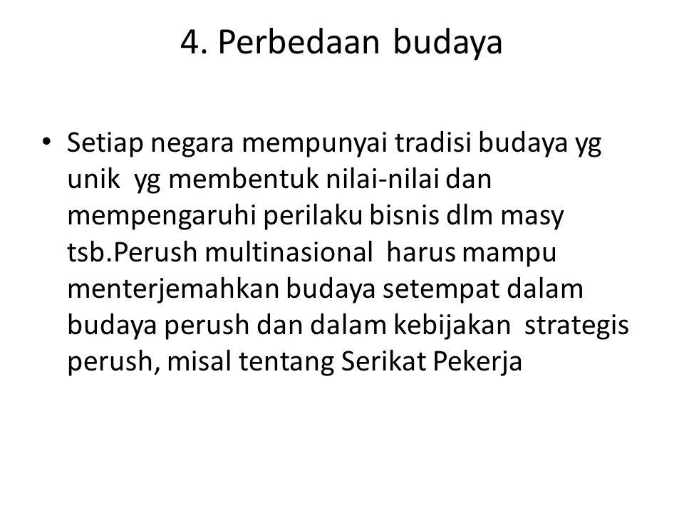 4. Perbedaan budaya