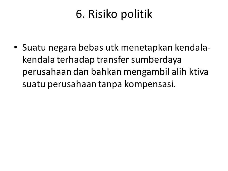 6. Risiko politik