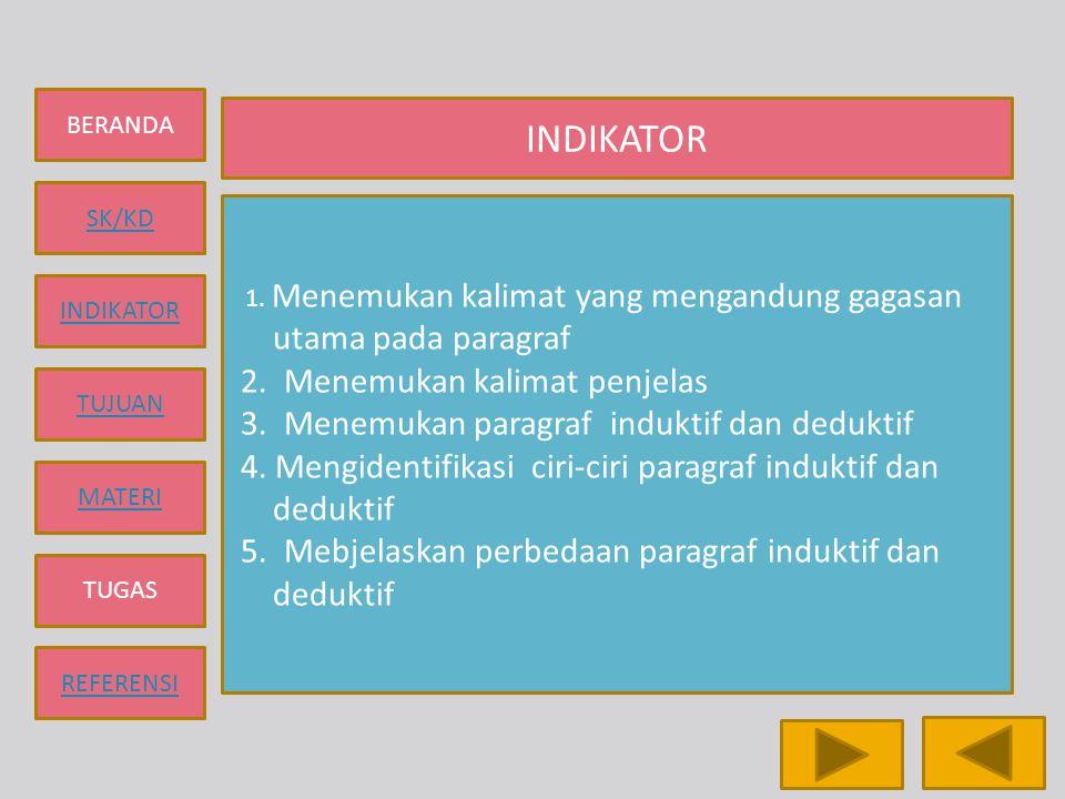 INDIKATOR 2. Menemukan kalimat penjelas