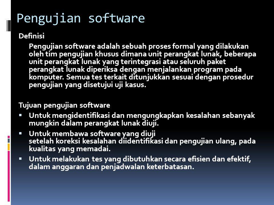 Pengujian software Definisi